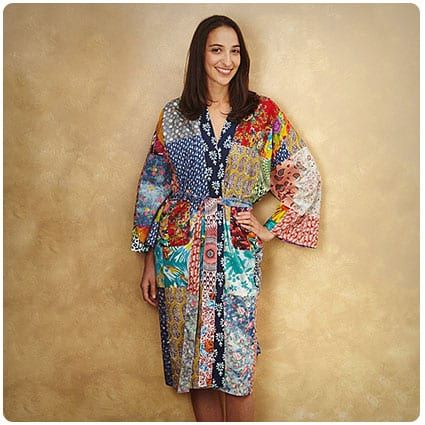 Upcycled Cotton Sari Robe #saridress