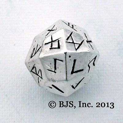 So ME! ---Elder Futhark Rune Dice Silver Norse Die Rune Casting Viking Jewelry New   eBay $55.50