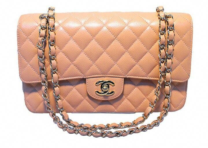 eb3ed5f1f8d701 Chanel Peach Caviar Quilted 10 inch 2.55 Classic Double Flap Bag  #Chanelhandbags