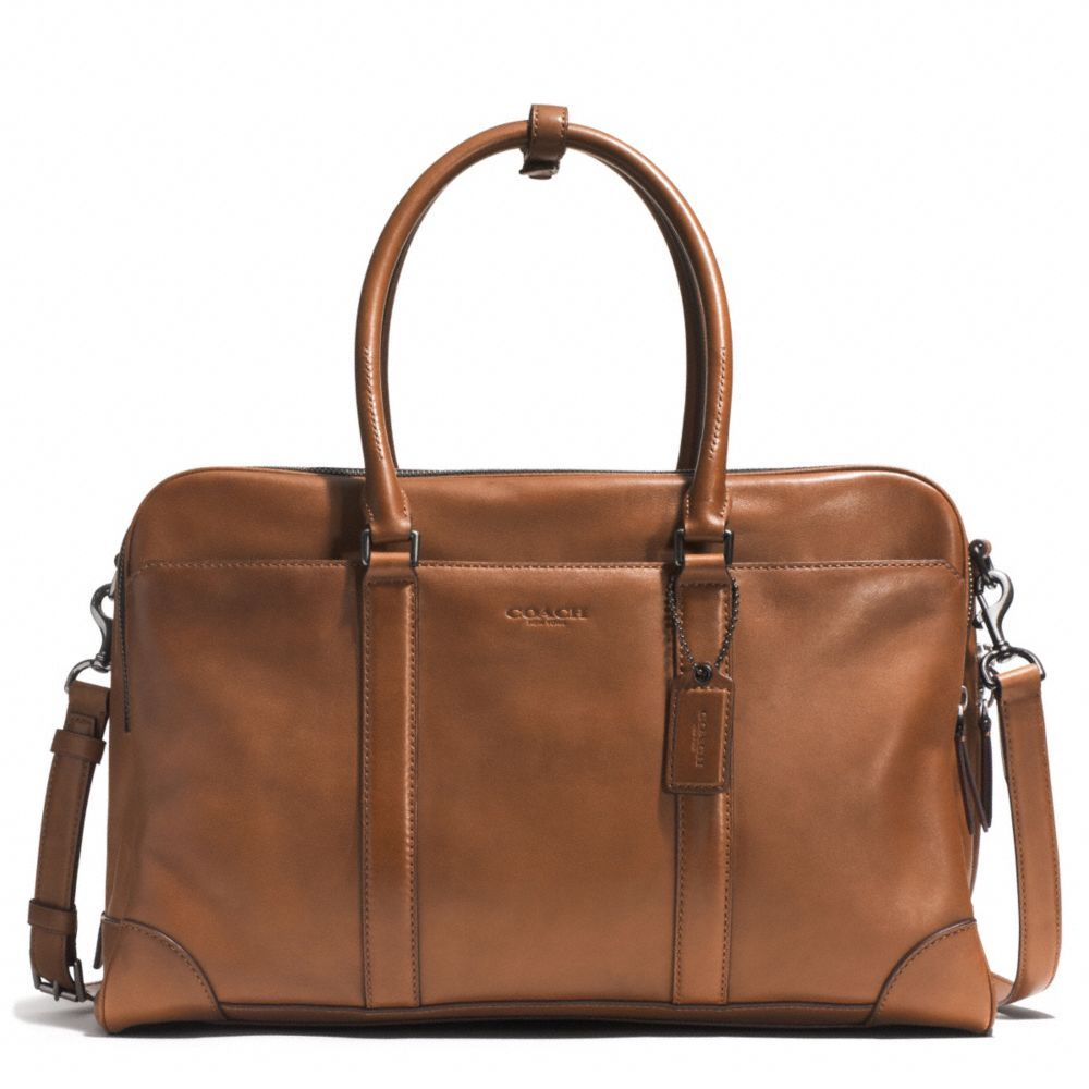 Coach  The Bleecker  Men s Day Bag - This sleek, all-leather duffle bag has  three large compartments and is spacious enough for weekend trips or short  ... 7da4724811