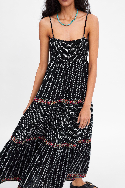 c2eab3ab PRINTED STRAPPY DRESS - View all-DRESSES-WOMAN | ZARA United States