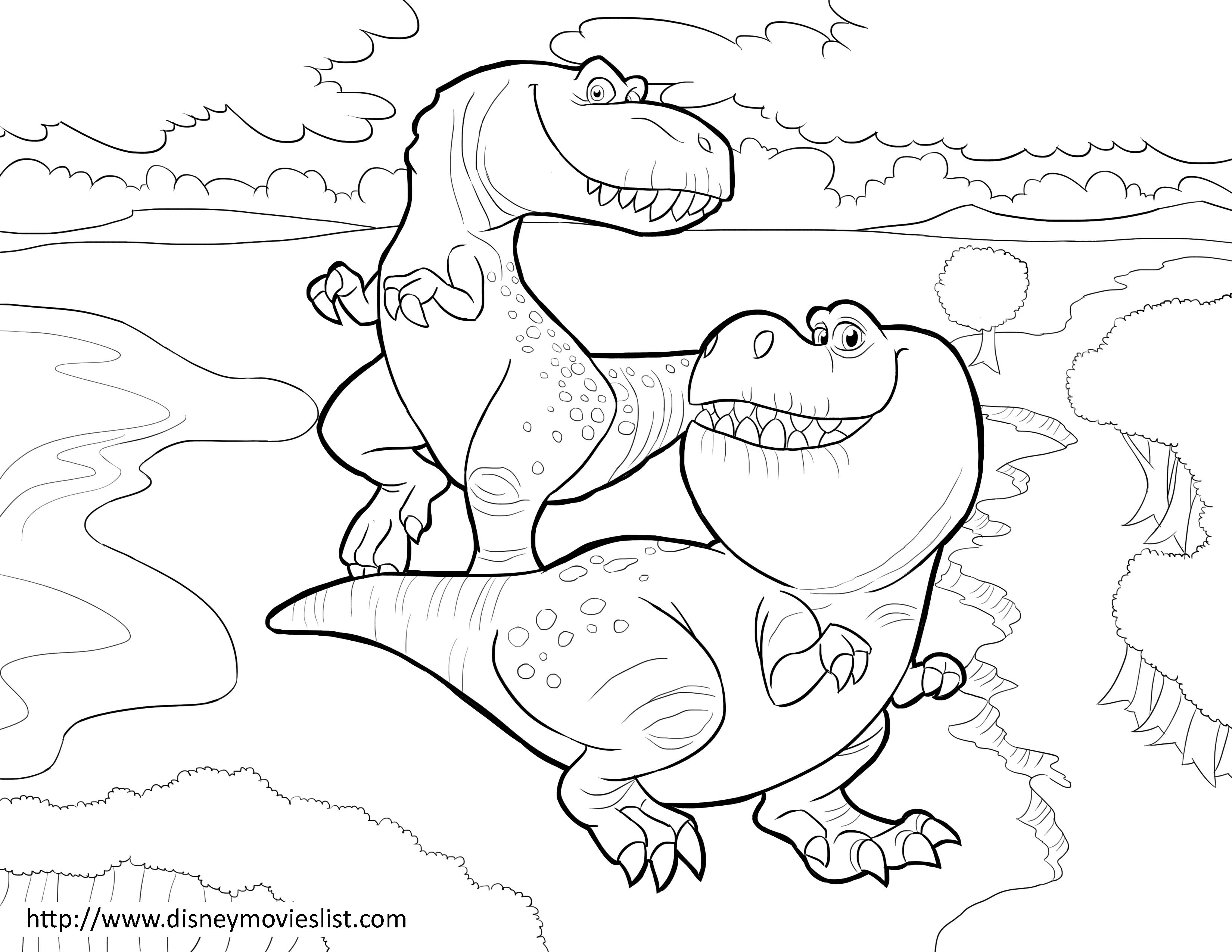 Disneys The Good Dinosaur Nash And Ramsey Coloring Page