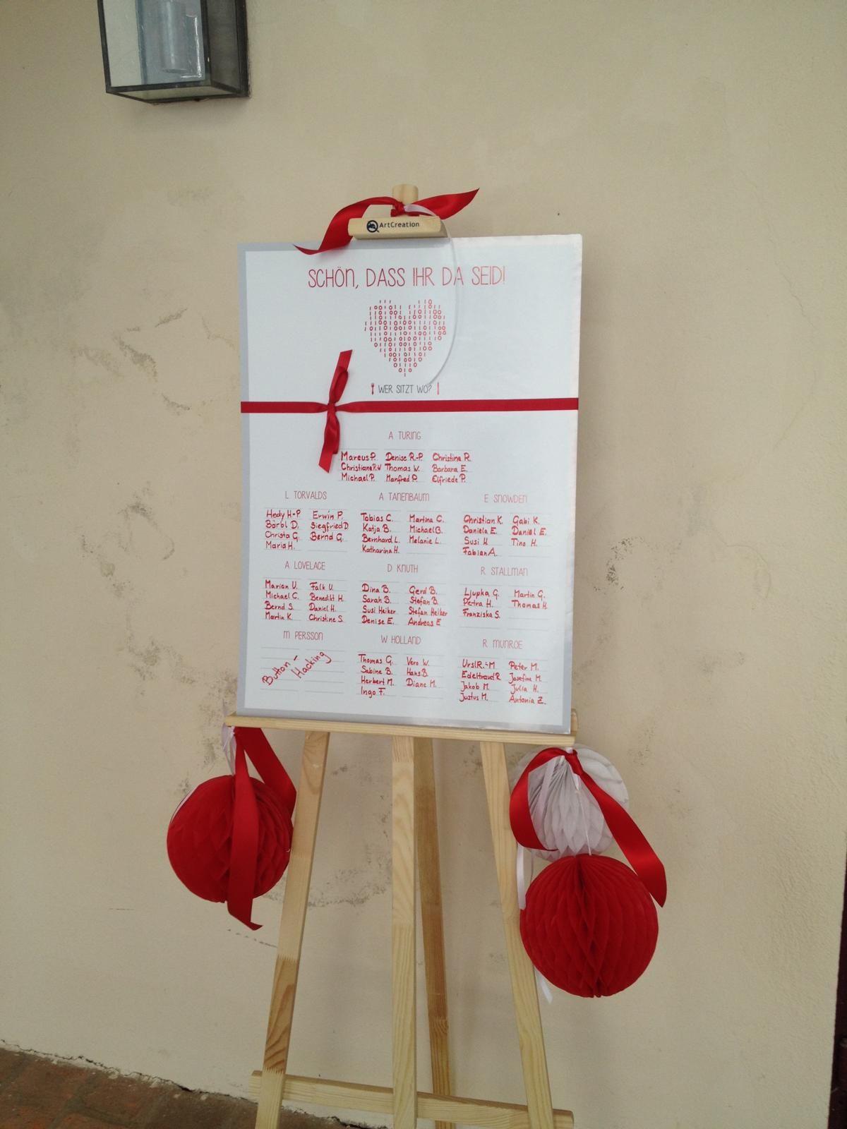 Sitzplan Hochzeit, seating plan, Rahmen, Staffelei, Tischkarten ...