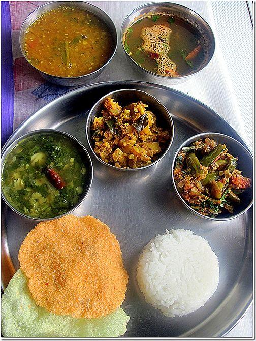 ANDHRA THALI Indian food recipes, Food recipes, Food
