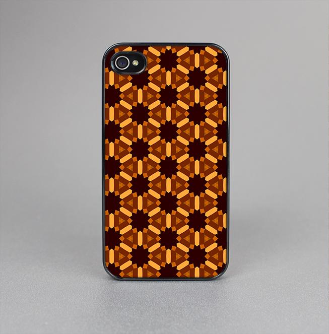 The Bright Orange Geometric Design Pattern Skin-Sert for the Apple iPhone 4-4s Skin-Sert Case
