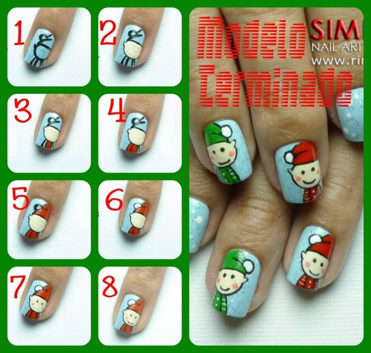 Christmas Nails Elf: Christmas Nail Art, Nail Art