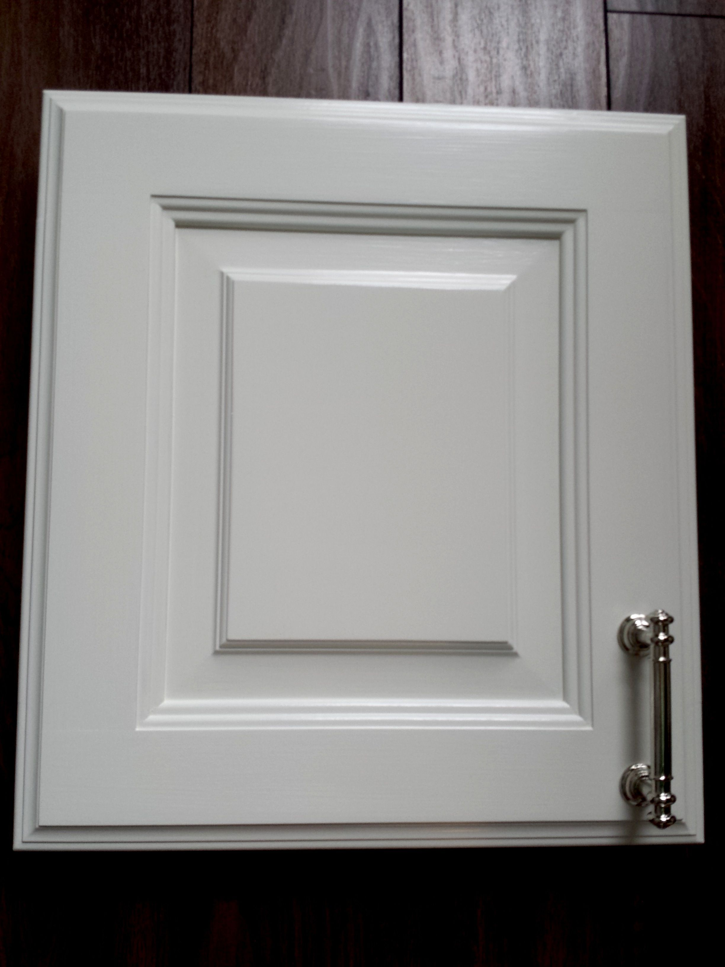 Benjamin Moore White Dove in Advance Paint. Hardware from