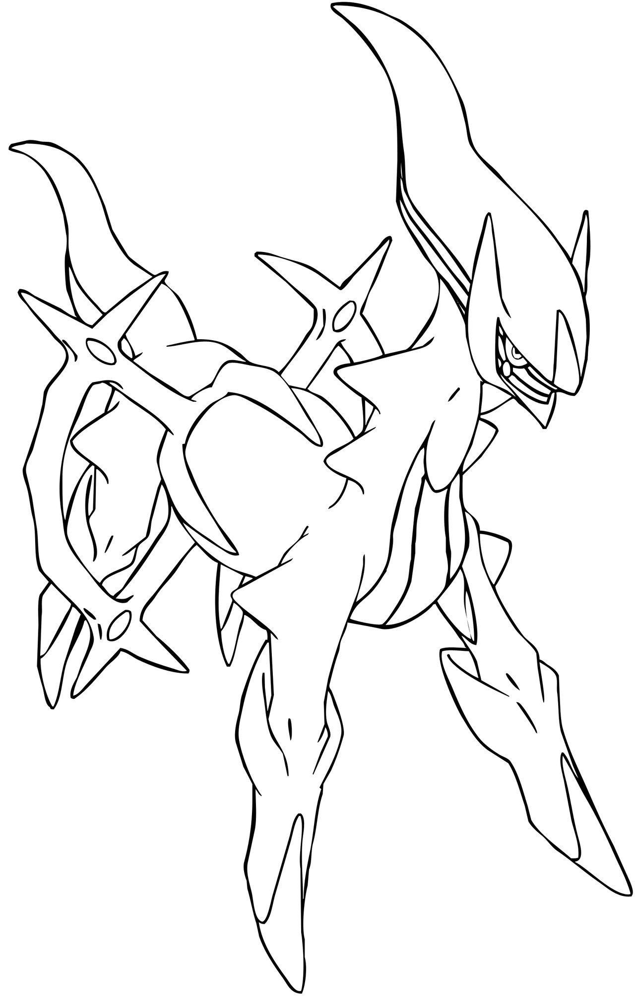 Coloriage De Pokemon Arceus Imprimer Et Obtenir Une