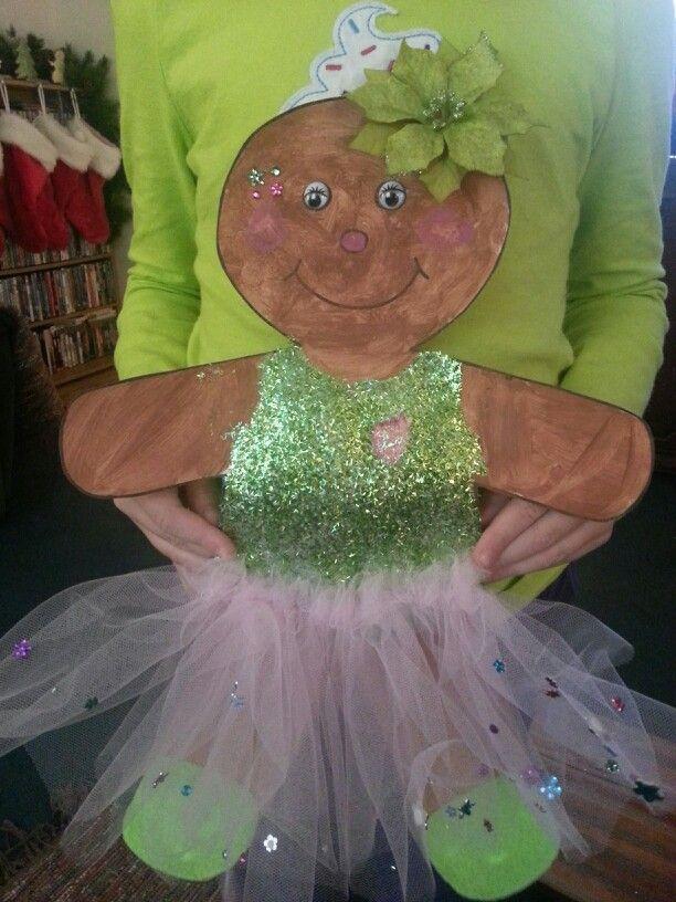 Gingerbread Man Girl Art Project Gingerbread Man Activities
