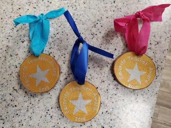 best teacher ornament, best teacher award, teacher ornament, teacher medal ornament, teacher gift, t
