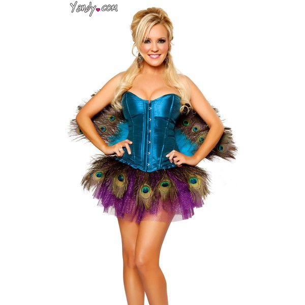 Sexy Peacock Costume By Bridget, Sexy Peacock Halloween Costume found on Polyvore