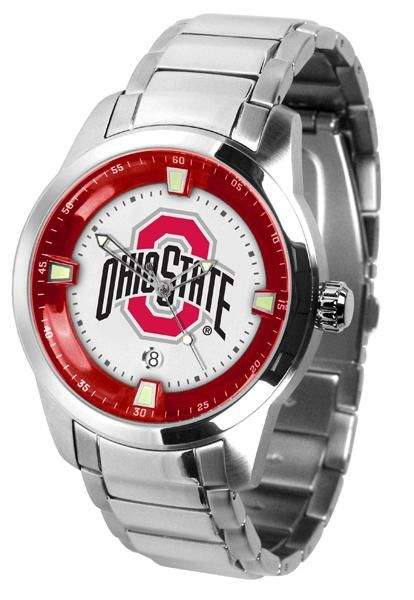Ohio State Buckeyes Titan Steel Watch