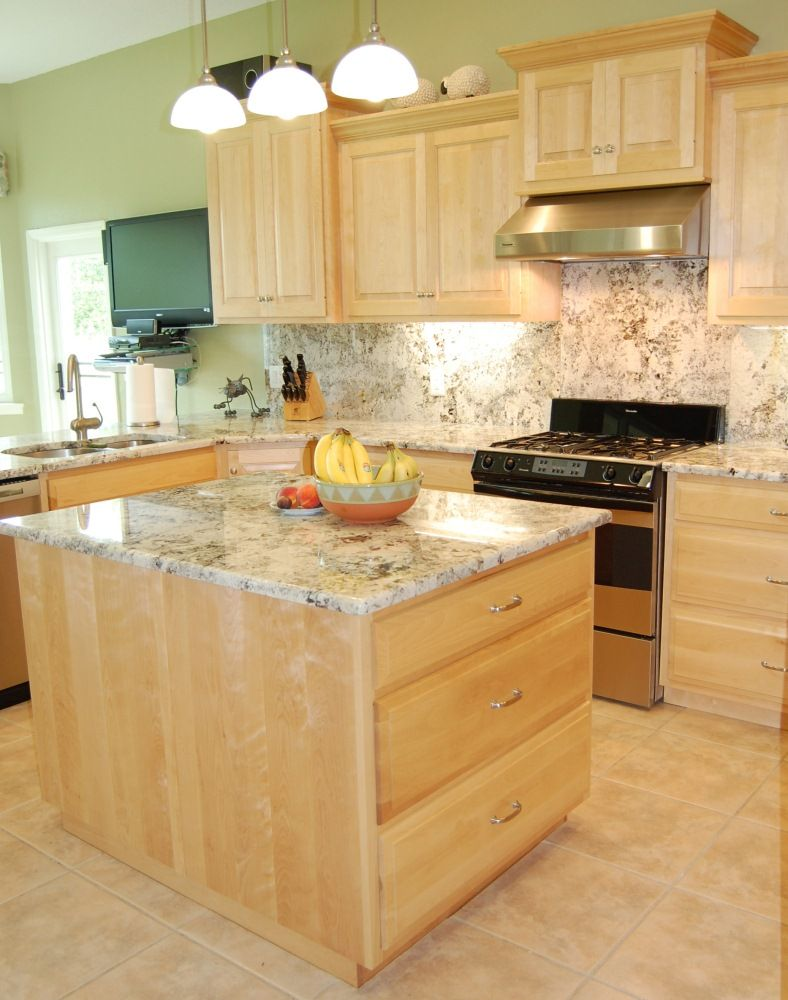 light maple cabinets, grey floor - - Yahoo Image Search ...
