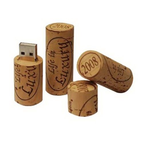 Wine cork USB flash drive