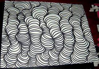Drawing With Lines And Dots : My doodle idea. draw wavy line. add dots. connect doodles