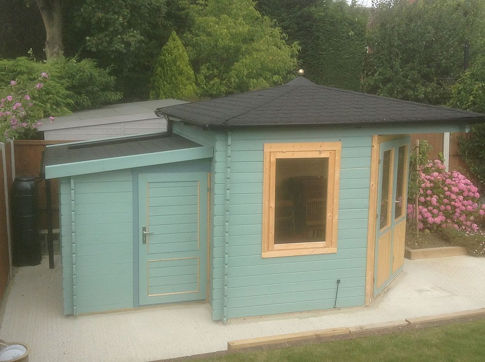 asmund corner log cabin 3x3m 28mm logs height corner log cabins cabin double doors