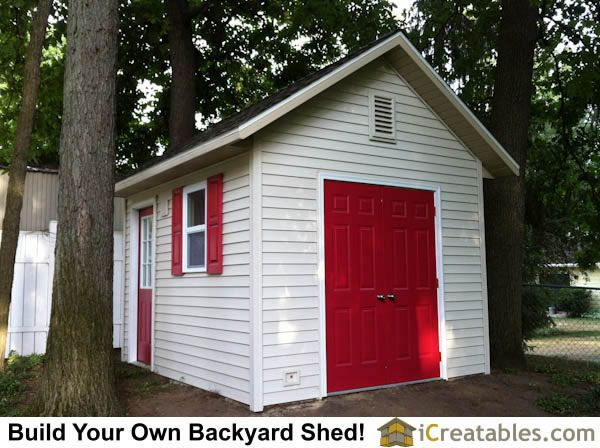 10x12 Garden storage shed plans by iCreatables Landscaping