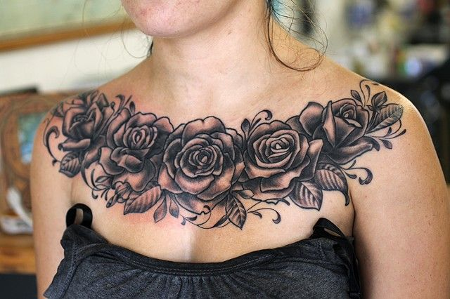 Roses Cover Up In The Middle Chest Tattoos For Women Cover Up Tattoos For Women Chest Tattoo Cover Up