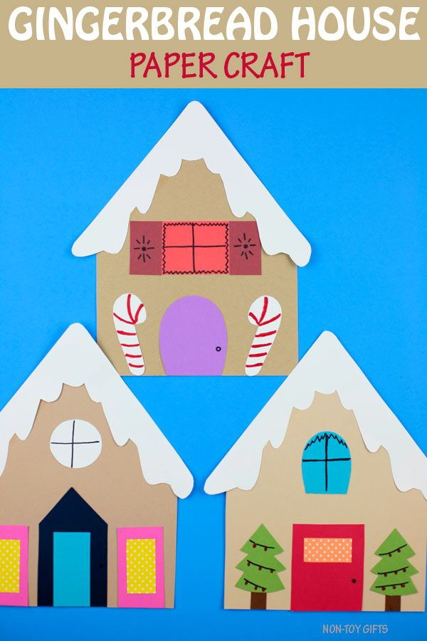 Gingerbread House Paper Craft For Kids For Christm