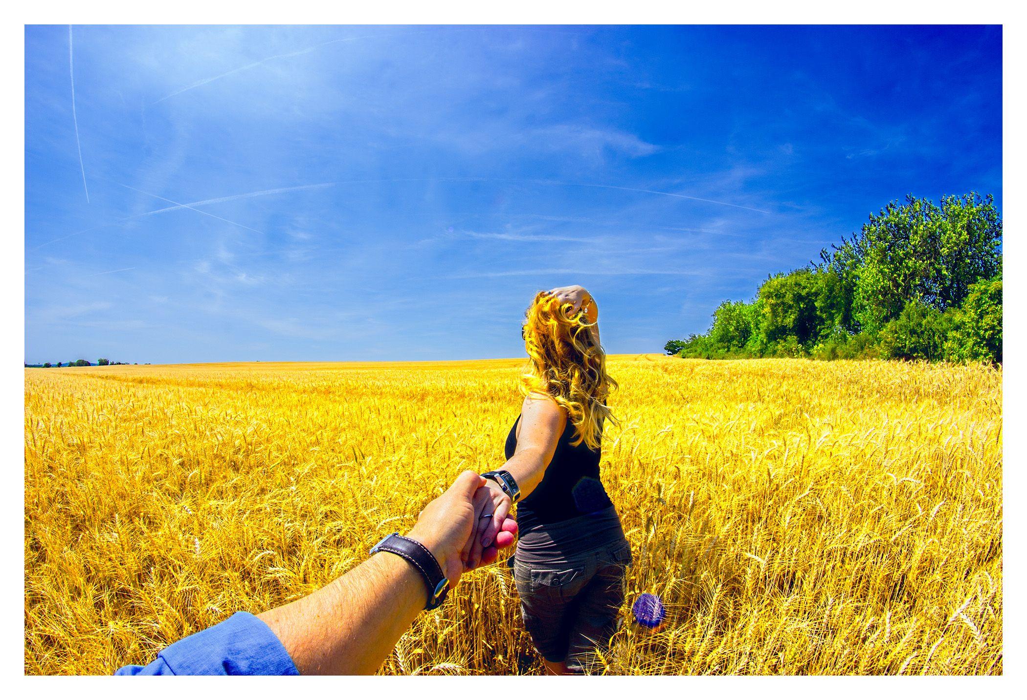 Follow me - wheatfield
