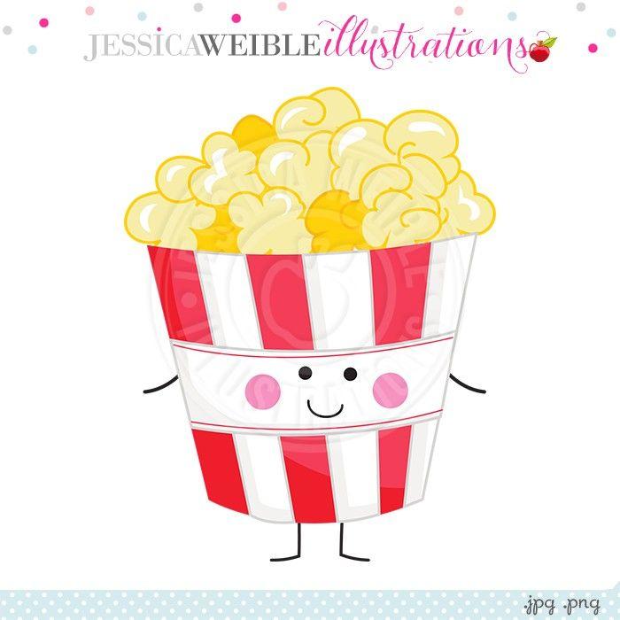 Popcorn Character Clipart Clip Art Cute Clipart Character