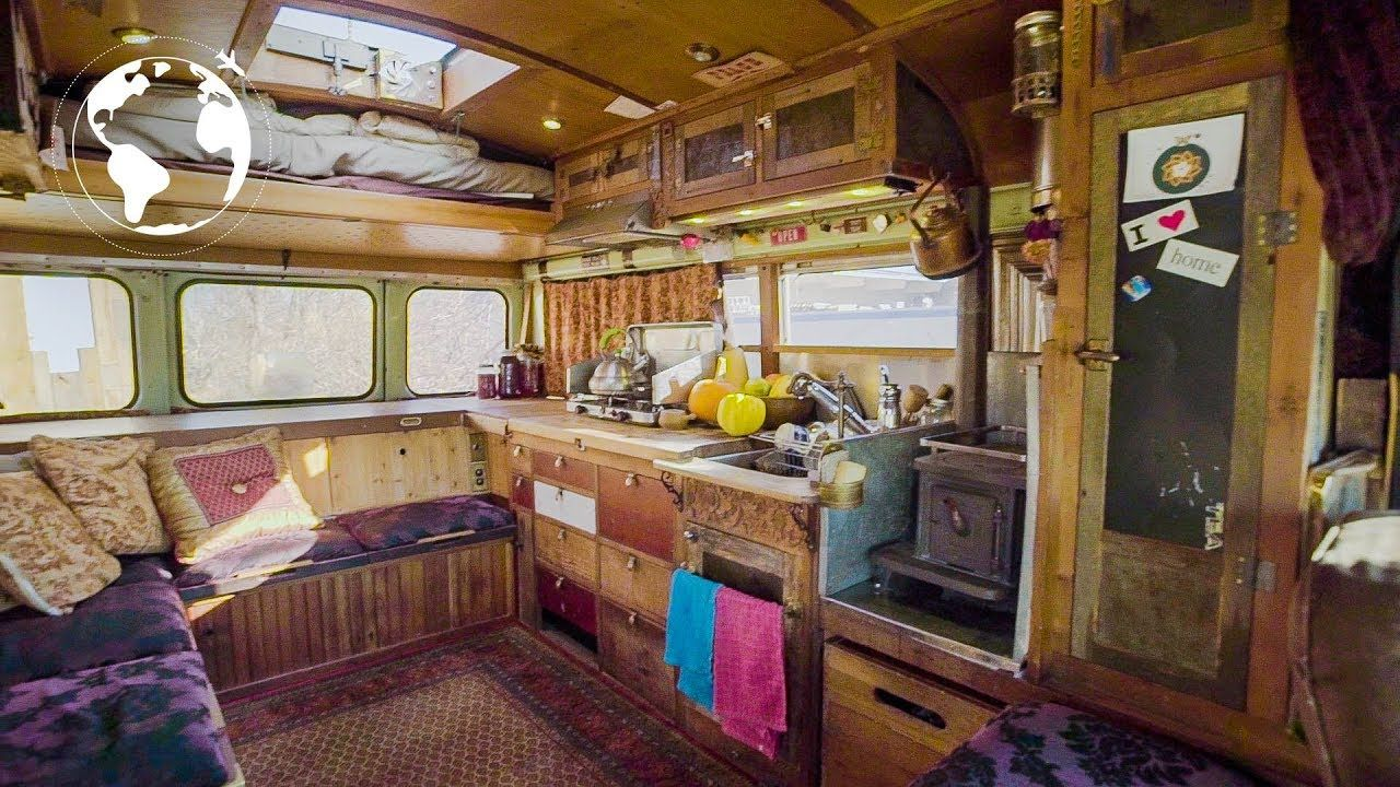 really cool bus library bed ideas more man converts bus into rh pinterest com cool house building ideas cool house base designs