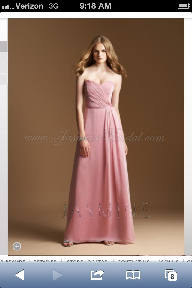 Jasmine Bridal. Belsoie collection Rose Petal pink Bridesmaid Dress ...