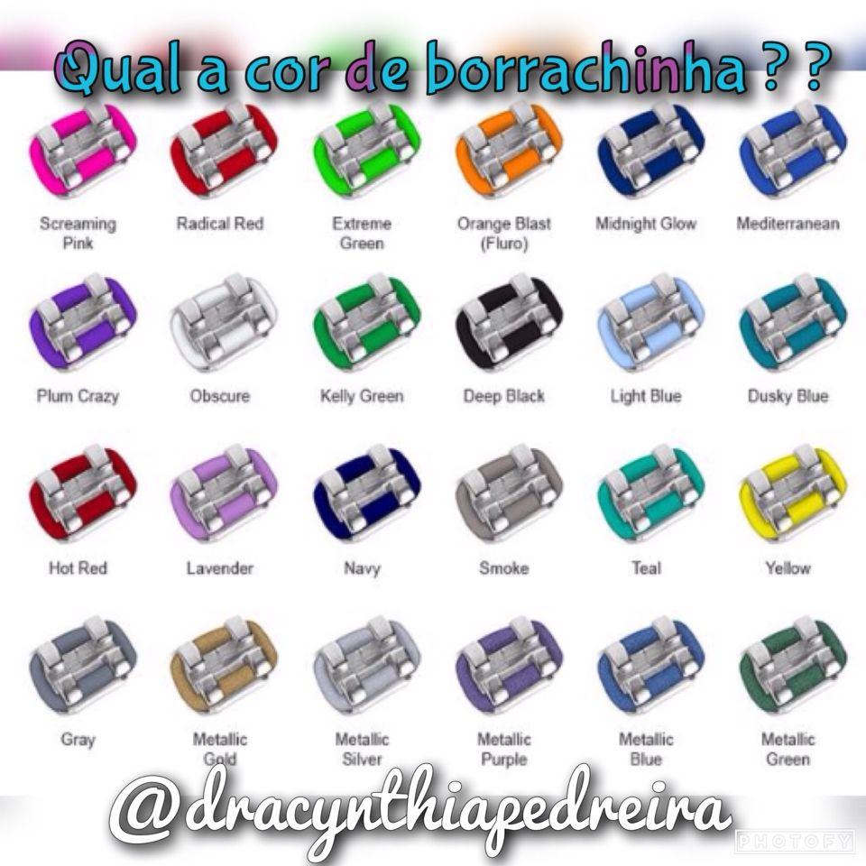 Borrachinhas | Braces | Pinterest | Braces colors
