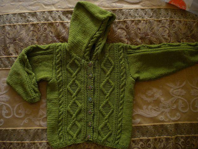 Ravelry: Ritzyknitz's Baby Jacket with Hood