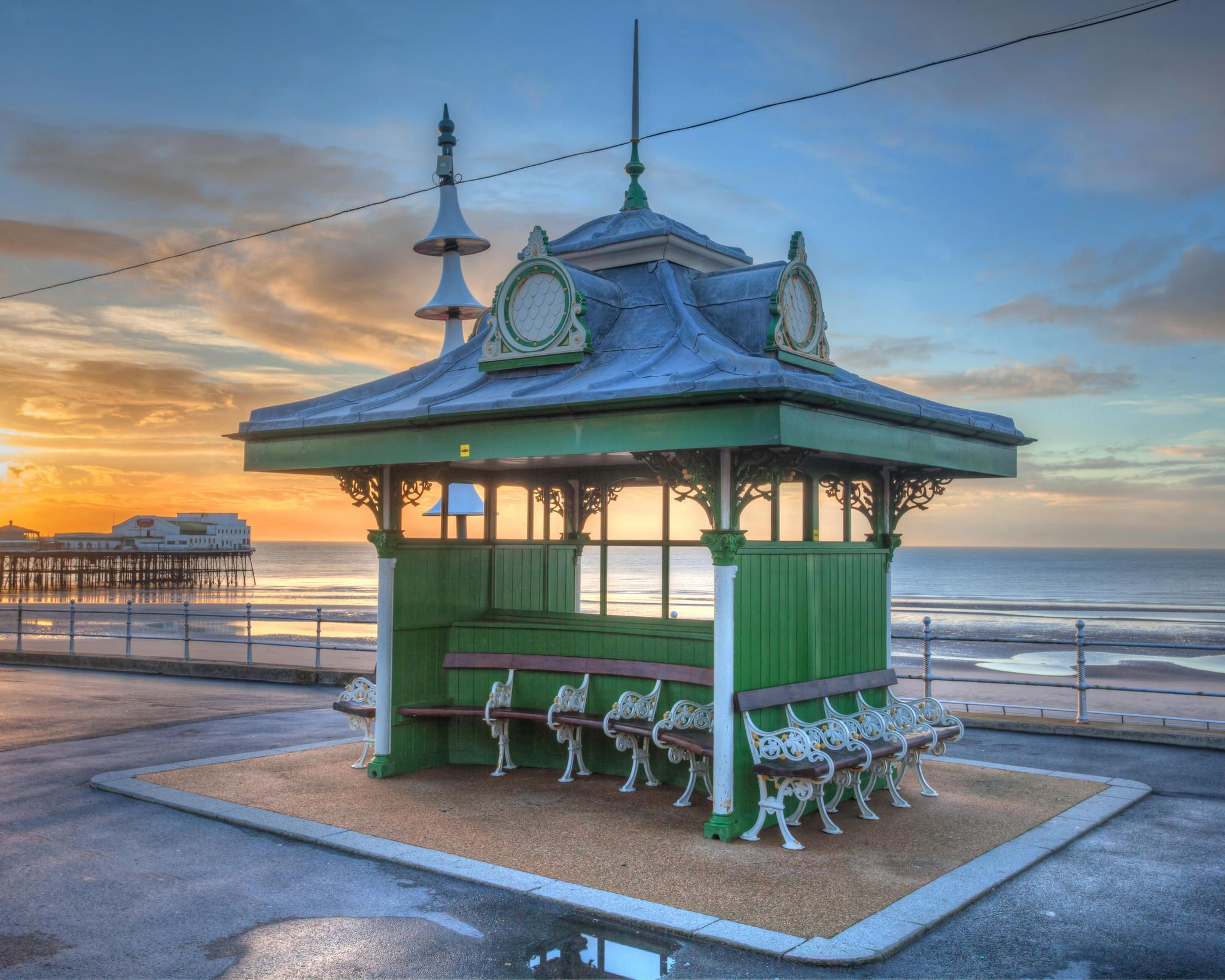Photograph Blackpool Victorian Promenade Hut. by alex west on 500px
