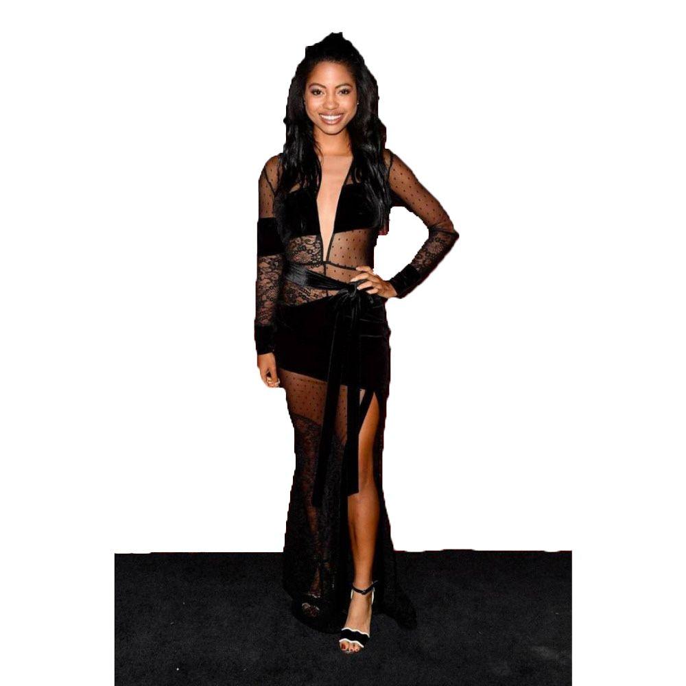 Black dream velvet runaway dress free shipping missdazz