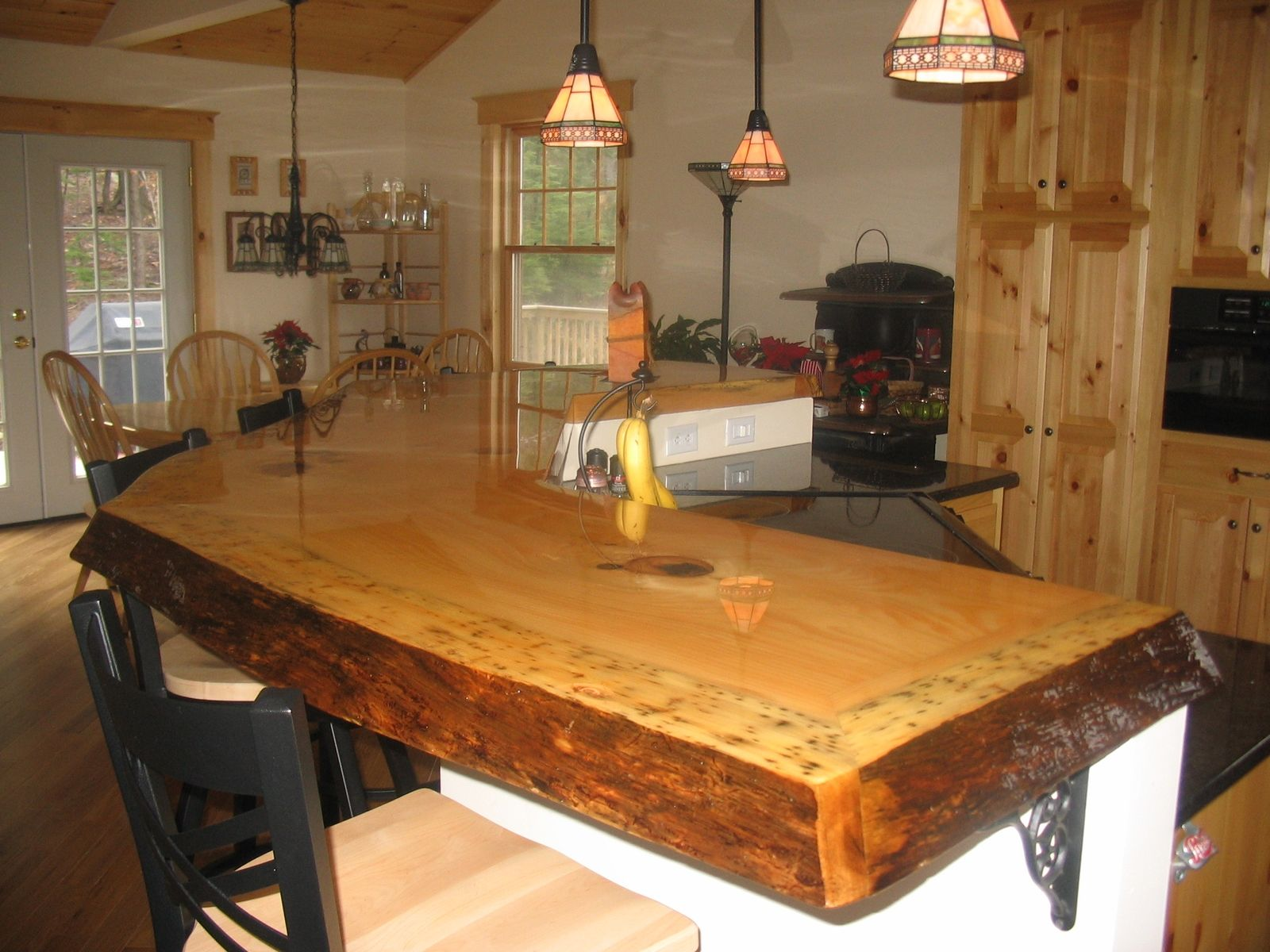 Awesome rustic wood slab bar top | Interior design wanted | Pinterest