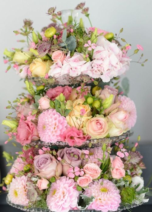 beautiful flower arrangement cute for a baby or bridal shower
