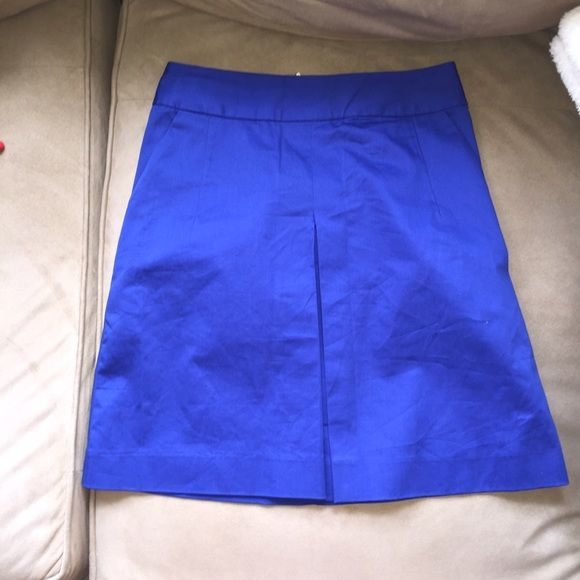 Express cotton skirt Express royal blue skirt with front slit Express Skirts