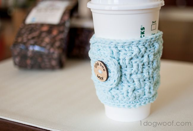 Basketweave Cup Cozy Crochet Pattern With Myfavoritebloggers