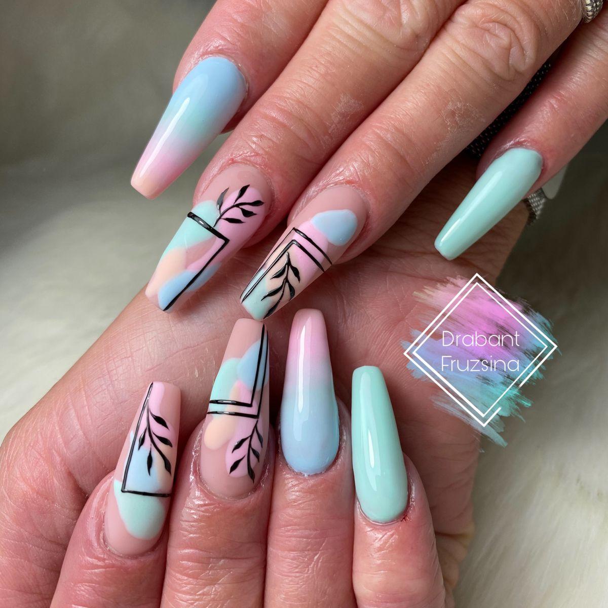#pastelnails #pastel #ballerina #ballerinanails #mattenails #ombrenails #nails #nailart #summernails #balerina #mukorom #mukormos #perfectnails #cupcake