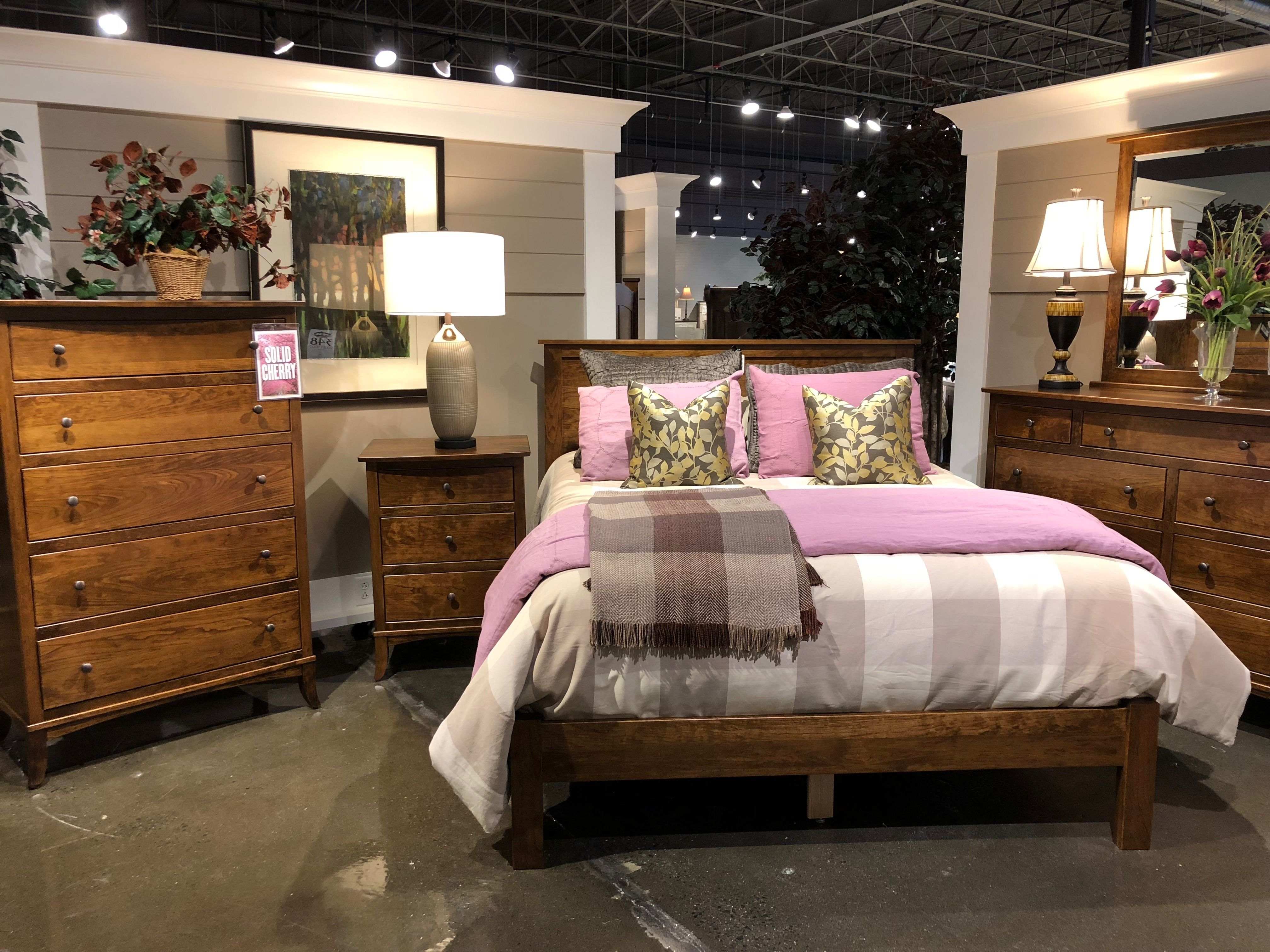 An Amish Made Bedroom in solid cherry Furniture