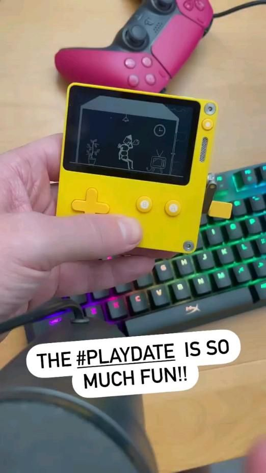 The Playdate is a new handheld gaming system….with a crank! #playdate #thegameawards