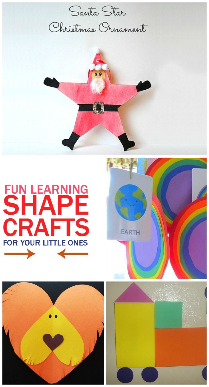 Here are some creative craft ideas that will help you teach the shapes with some added fun!