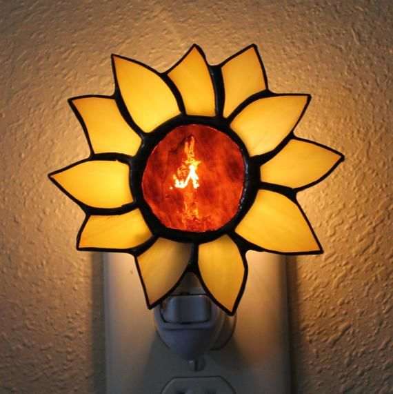 Stained Glass Sunflower, Christmas Stocking, Christmas Tree, and Lighthouse Night Light #sunflowerchristmastree