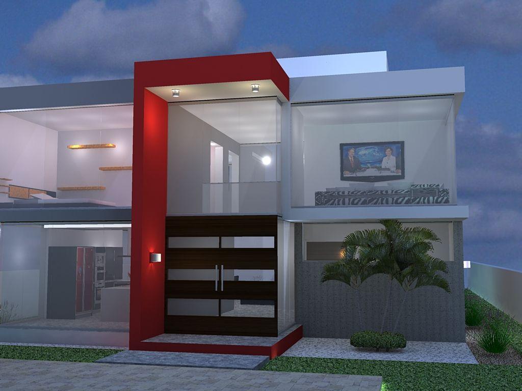 Fachada casas modernas pequenas pesquisa google for Fachada moderna
