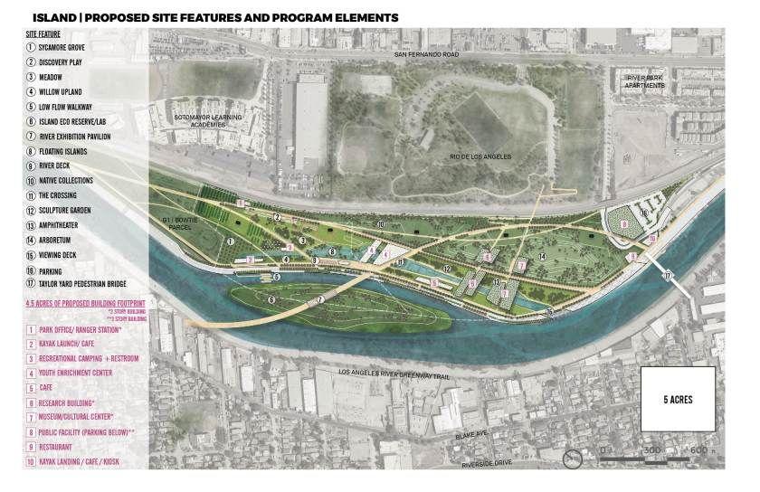 L A River Planners Float Three Design Proposals For A Major New Park Park Los Angeles Parks River Park