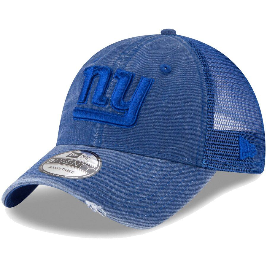 613a1e39 Men's New York Giants New Era Royal Tonal Washed Trucker 9TWENTY ...