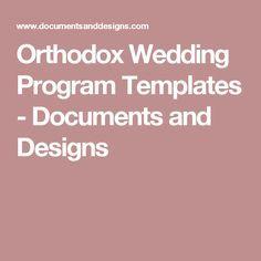 orthodox wedding program templates documents and designs greek