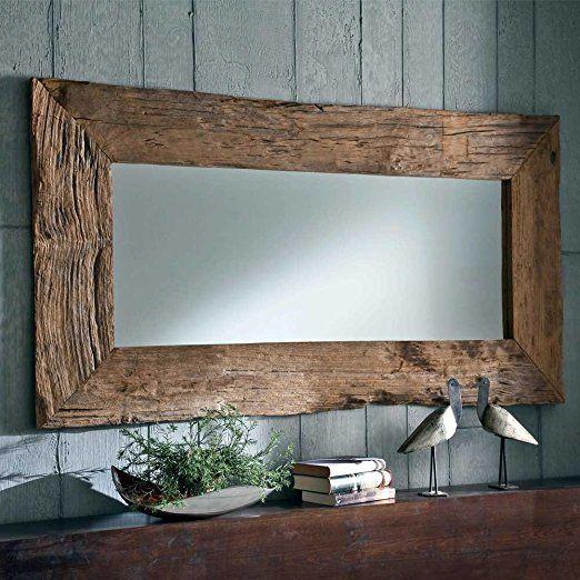 Spiegel mit rahmen teak altholz breite 180 cm pharao24 for Breite golf 6 mit spiegel