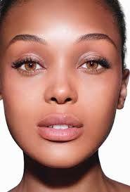 """natural makeup """"look"""" for black women  hair"""