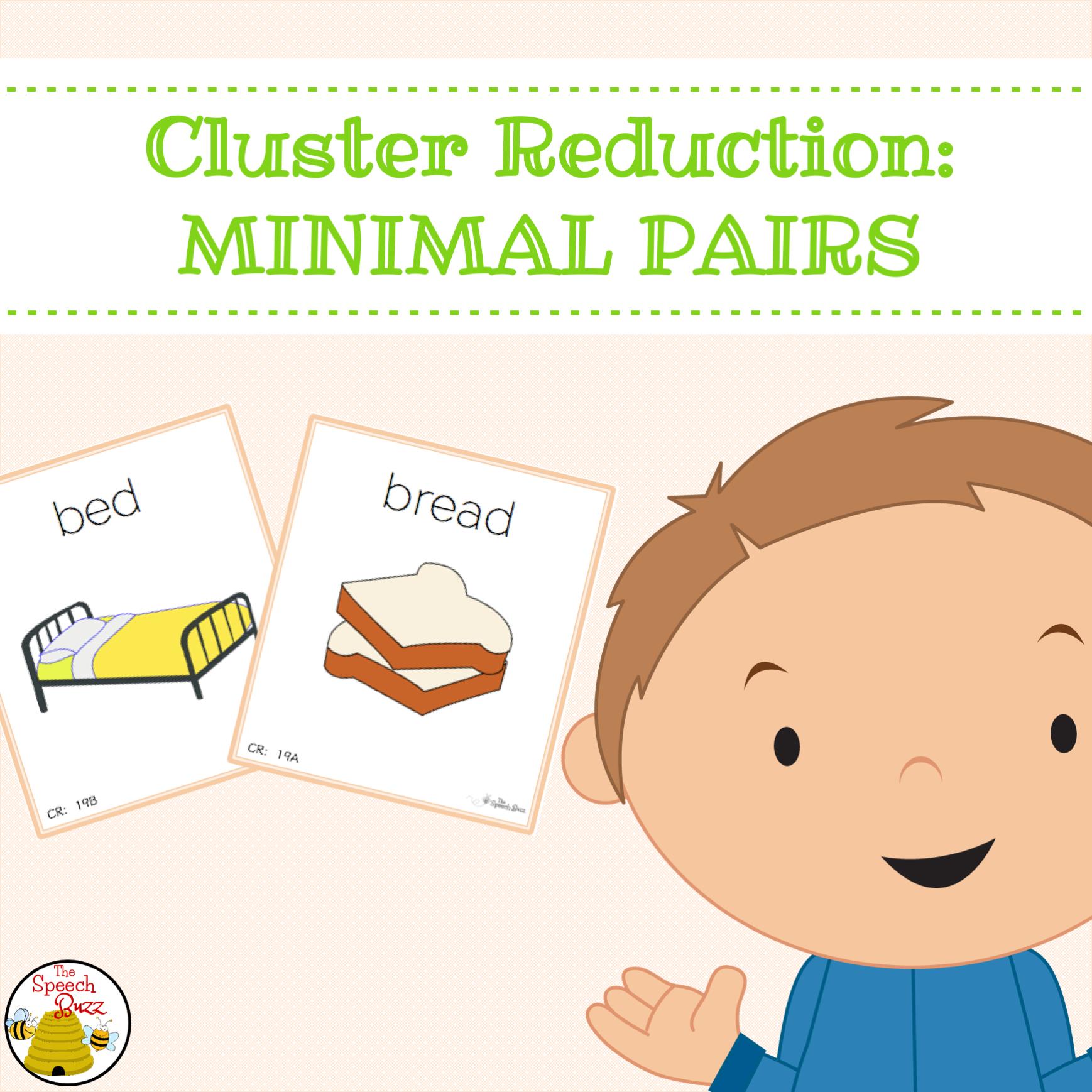Cluster Reduction Minimal Pairs