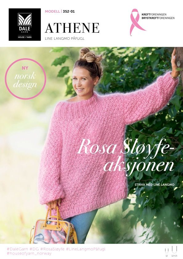 ROSA SLØYFE AKSJONEN 2017 Vis omsorg strikk en rosa