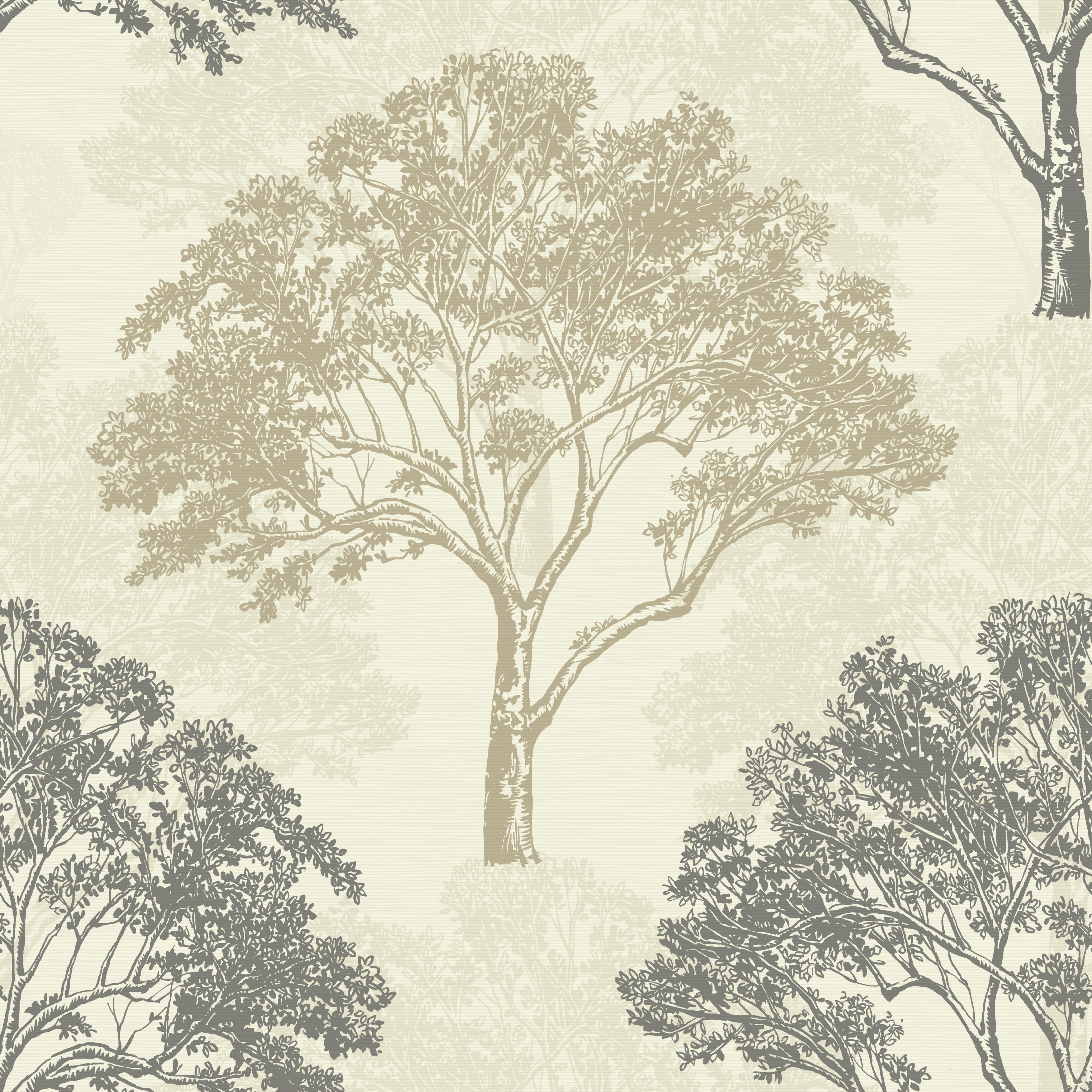 Tree Wall Paper arthouse sophie conran alderwood truffle trees glitter effect