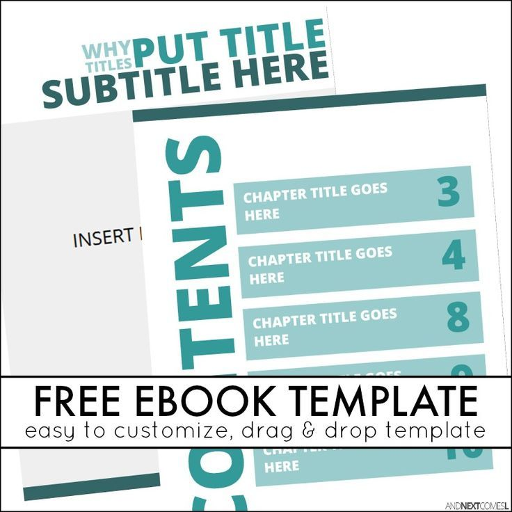 free customizable ebook template for microsoft publisher from and next comes l - Free Ebook Templates
